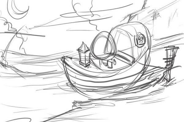 2011-04-23 乘船的小孩01線稿.jpg