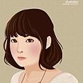 illustrator 女生2