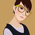 illustrator 女生4