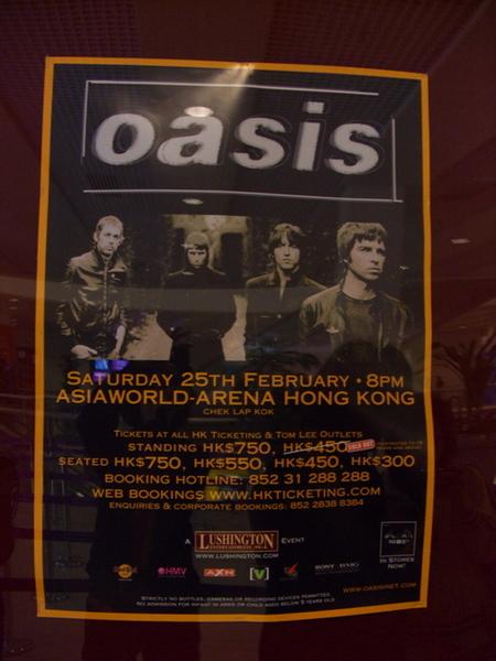 Oasis 海報一張