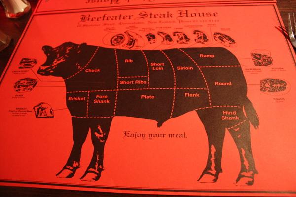 來到物產豐富的紐西蘭.Pon先生堅持要吃道地的牛排以解嘴饞