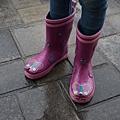 好立體的蝴蝶雨鞋