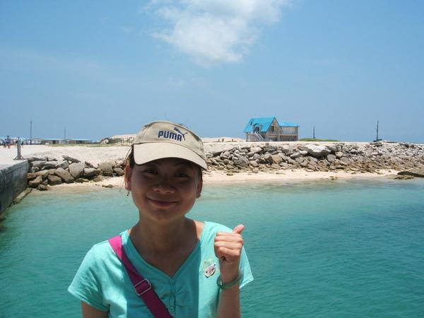 這是澎湖險礁島,後面那幢房子就是原味夏天的拍攝現場拉..