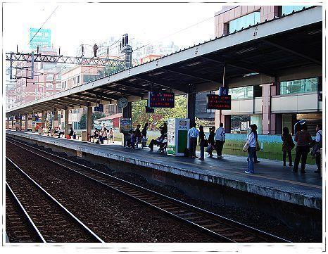松山火車站月台