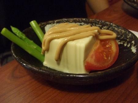 老頭的前菜,豆腐沙拉....