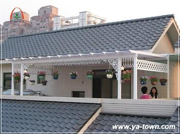 頂樓曬衣區採光晴雨棚