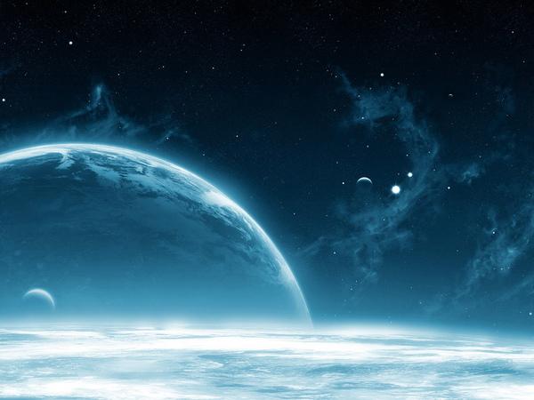 Blue blue space