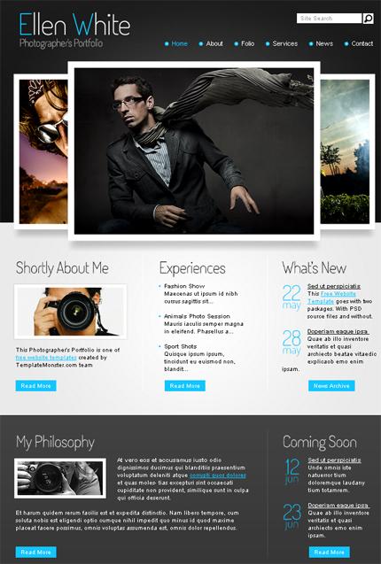 免費設計師、攝影師網站樣版