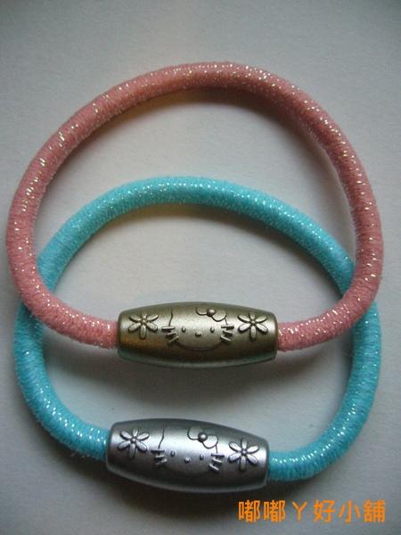 <P1040395>日本製超~可愛的HELLO KITTY綁頭髮髮圈粉紅/粉藍-20元/一條
