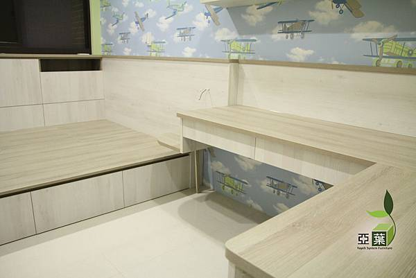 系統床頭櫃  系統L型書桌