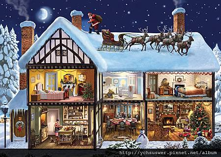 FJ10005-Night Before Christmas Jigsaw Puzzle-w