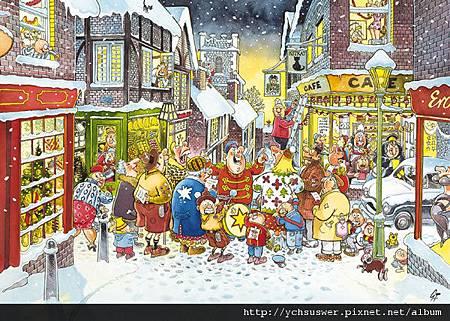 FJ17256-Wasgij Christmas 4 White Christmas Jigsaw Puzzle-w