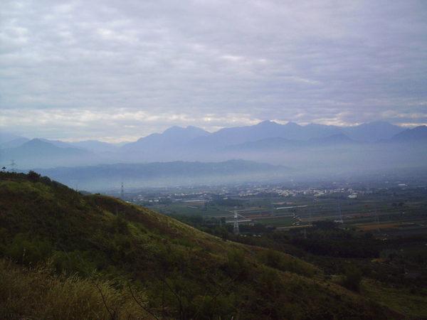 八卦山最高點橫山遠眺集集大山