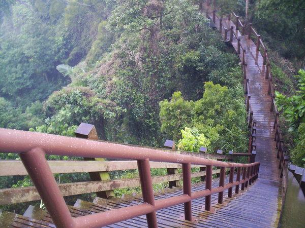 社頭五峰的陡峭步道