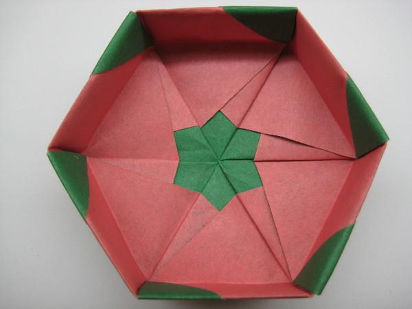 六邊形盒子(盒蓋內部)