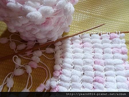 毛球球圍巾