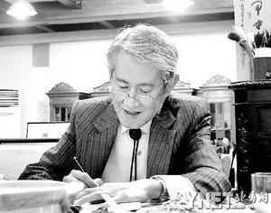 木心--2005年4月16日上海留影 ■摄影陳村