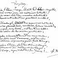 Arthur Rimbaud手稿