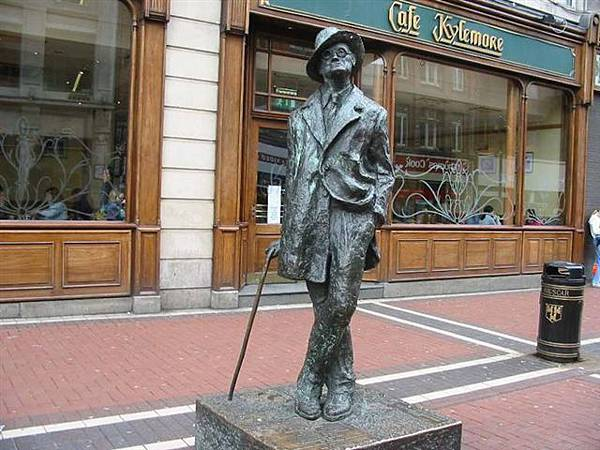 James Joyce - statue joyce-都柏林