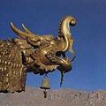 布達拉宮金頂區鎏金鱷魚頭