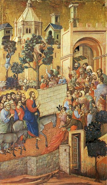 duccio-進入耶路撒冷﹝Entry into Jerus