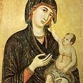 duccio-聖母與聖嬰及兩位天使