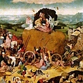 Hieronymus Bosch - Il Carro di Fieno 乾草戰車﹝1480-1512, 三聯畫中幅﹞