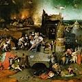 Hieronymus Bosch - Le Tentazioni di Sant'antonio 聖安東尼的誘惑(1500-1510, 三憐畫中幅局部)