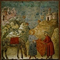 giotto-Francis giving his cloa