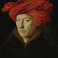 包著紅頭巾的男子
