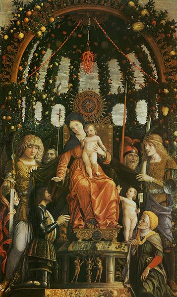 mantegna-聖母榮耀像﹝Madonna della V