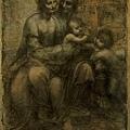 davinci-聖母子、聖安娜和施洗者約翰1507