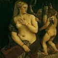 tiziano-照著鏡子的維納斯﹝Venus with a