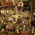 bruegel-狂歡節和四旬齋之間的爭鬥