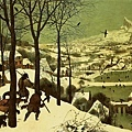 bruegel-雪中獵人﹝Hunters in the Sn