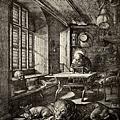 durer - 聖傑諾米在房間裡﹝St. Jerome in home〉