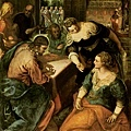 tintoretto-在馬莎及瑪利家的基督