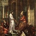 tintoretto-佇立於彼拉多前的基督﹝Christ b