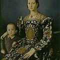 bronzino-埃利諾及其兒子的肖像