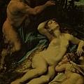 correggio-維納斯、邱比特和森林之神