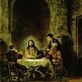 rembrandt-以馬杵斯的晚餐﹝Supper at Emmaus﹞