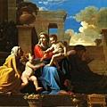 poussin-石階上的聖家族1648x