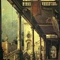 幻想畫:通往宮殿中庭的柱姆