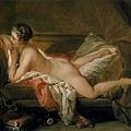 boucher-沙發上的裸女﹝Nude on a Sofa Reclining Girl﹞