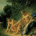 boucher-沐浴後的月神黛安娜﹝Diana Leaving her Bath﹞