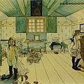 larsson-媽媽與小女孩們的臥室1890.jpg