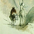 Daumier-Don Quixote and the Dead Mule 1867