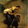 Daumier-The Burden (The Laundress)1850-53