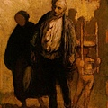 Daumier-saltimbanques-Wandering Saltimbanques