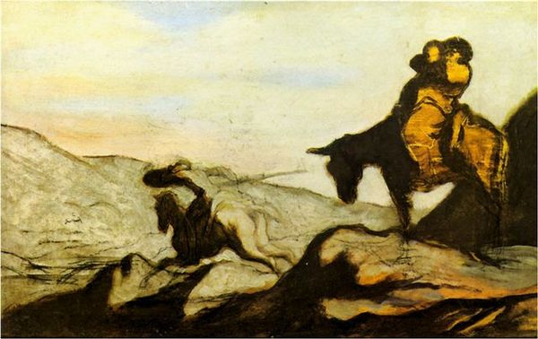 Daumier-Don Quixote and Sancho Panza
